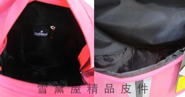 ~雪黛屋~CAUTION 後背包中小容量可A4資夾70/200D防水尼龍布台灣製造成人兒童男女適用ATB6232
