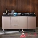 流理台 簡易櫥櫃不銹鋼經濟型廚房櫃子灶臺...