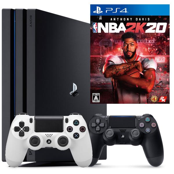【PS4主機 NBA雙人同樂組 可刷卡】 PS4 7218B PRO 雙手把組+NBA 2K20 黑色主機【台中星光電玩】