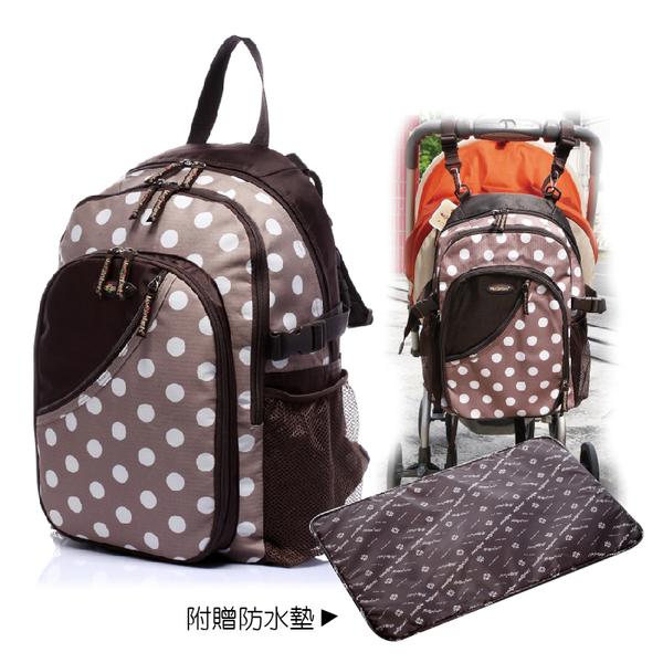 媽媽包 分隔袋 收納袋【MD0002】Mesenfants專櫃款多機能多層收納空間+復古圓點+大容量媽媽背包