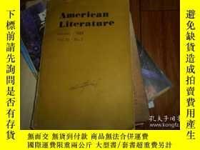 二手書博民逛書店AMERICAN罕見LITERATURE。OCTOBER 198