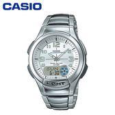CASIO 雙顯鐵帶運動錶-AQ-180WD【愛買】