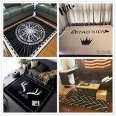 北歐地毯臥室客廳門墊滿鋪可愛房間床邊茶幾沙發辦公室長方形地墊    伊芙莎