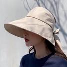 防曬帽 遮陽帽 防曬帽子女韓版百搭遮臉大檐網紅漁夫帽防紫外線遮陽空頂帽