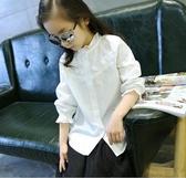 童裝襯衫加絨2019秋冬裝兒童韓版中大女童百搭純棉打底白襯身長袖