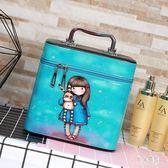 化妝箱 新款簡約時尚化妝箱大容量少女心化妝品包便攜旅行 BF9842『男神港灣』
