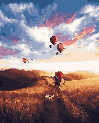 【DT191】Far Away_DIY 數字 油畫 彩繪