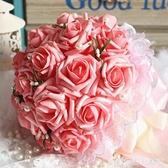 韓式新娘手捧花束仿真玫瑰花球唯美婚慶用花婚禮拍攝道具