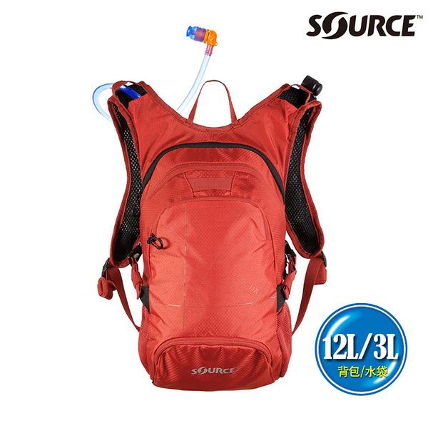 SOURCE 戶外健行水袋背包 Fuse 12L 2054129112 (12L/水袋3L) / 登山 單車 自行車 跑步 補水 抗菌