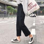 黑色加絨闊腿牛仔褲女秋冬2020新款高腰加厚保暖寬鬆直筒休閒長褲