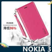 NOKIA 3 Hanman保護套 皮革側翻皮套 隱形磁扣 簡易防水 帶掛繩 支架 插卡 手機套 手機殼 諾基亞