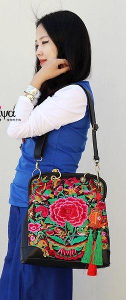 熱銷歐美 民族風包包 手工刺繡包 牛皮材質 男女 電腦包 手提肩背包 旅行 斜背包