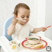 兒童餐具竹纖維卡通創意兒童餐盤組合套裝分格學生早餐碟家用分隔寶寶餐具免運
