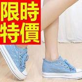 帆布鞋-舒適優雅平底韓版女休閒鞋2色53u35【巴黎精品】