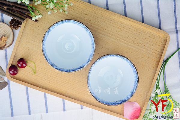 【堯峰陶瓷】【日本美濃燒】彩虹十草 4.5吋碗 圓缽/碗 線條紋