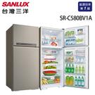 贈不鏽鋼保鮮盒 SANLUX 台灣三洋 580公升 雙門直流變頻冰箱 SR-C580BV1A 含原廠配送及拆箱定位