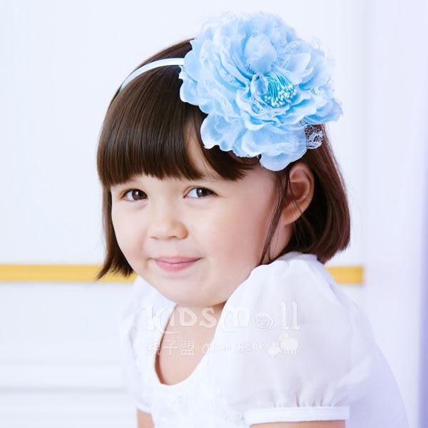 Cutie Bella蕾絲牡丹花髮箍-Sky