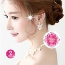 ::新娘飾品:: 韓式款蝴蝶珍珠項鍊耳環組-2色任選 [50058]◇美容美髮美甲新秘專業材料◇