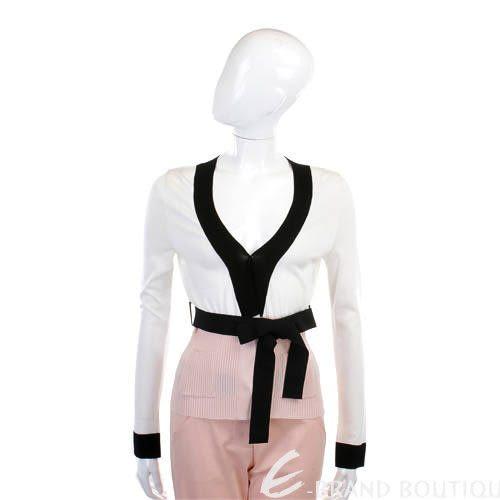 SOCIETA' DEL SILE 白/粉色拼接綁帶外套(附綁帶) 0820274-20