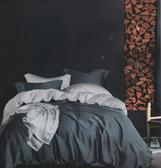HO KANG 天絲棉 雙人床包鋪棉兩用被套四件組 一灣心跡