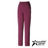 PolarStar 女 針織保暖運動長褲『暗紫』 P16444 台灣製造│休閒│登山│露營│機能衣│刷毛褲