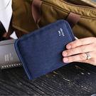 《J 精選》高品質短款護照包/證件包/護照夾(藏青色)