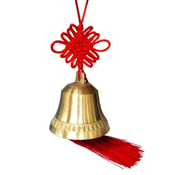 純銅開光大小號銅鐘風水風鈴掛件大門鈴鐺家居掛飾辟邪納福銅鈴鐺 美好生活