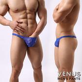 蘇菲24H購物 VENUS 蕾絲 性感情趣 透明男丁字褲 藍