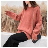 長袖針織上衣超火毛衣女套頭寬鬆慵懶風韓版秋冬新款加厚上衣 衣間迷你屋