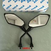 雅迪電動車后視鏡反光鏡M8正絲通用反光鏡訊鷹電瓶車后視鏡踏板車
