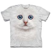【摩達客】 (預購) 美國進口【The Mountain】自然純棉系列 雪白小貓 T恤(10413045019a)