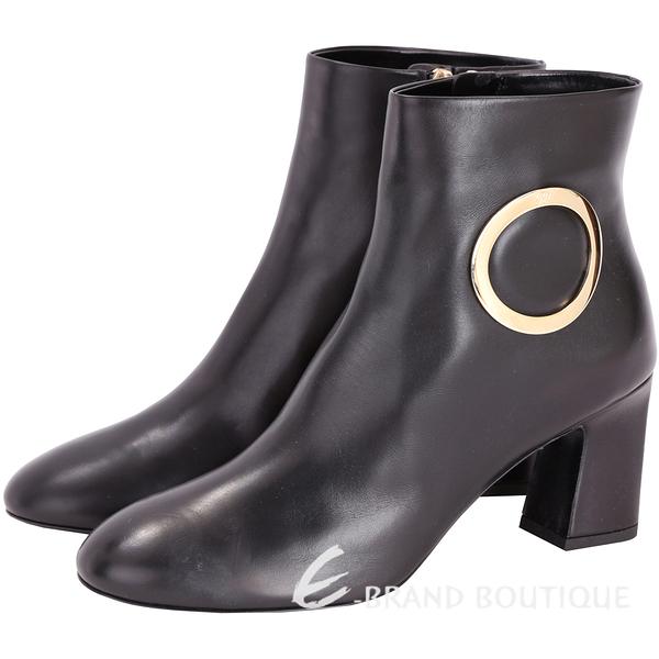 Roger Vivier Chunky Anneau 金屬環設計踝靴(黑色) 1710860-01