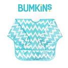 美國Bumkins 小童長袖防水圍兜 -藍鋸齒 BKSU-502