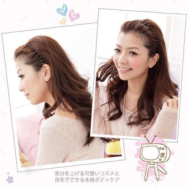 時尚波浪髮箍(細版/質感黑) 髮飾髮圈日韓歐美時尚  ◆86小舖◆