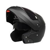 機車安全帽摩托車頭盔全盔雙鏡片揭面盔安全帽 ☸mousika