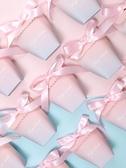 創意歐式糖果禮盒裝結婚禮新款喜糖盒粉色 全館免運