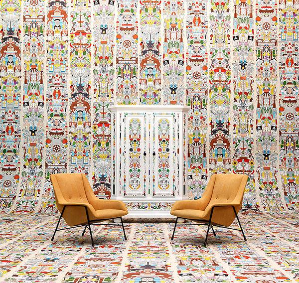 【進口牆紙】Archives Wallpaper by Studio Job【訂貨單位48.7cm×9m/卷】荷蘭 繪畫 JOB-04