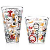 歐洲進口博格諾無鉛玻璃杯彩色涂鴉水杯耐熱印花圓型杯子創意茶杯【限時特惠九折起下殺】