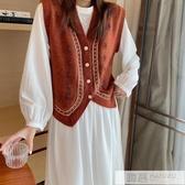 針織馬甲女寬鬆外穿背心2020新款秋冬季韓版無袖馬夾外套網紅開衫 雙12購物節