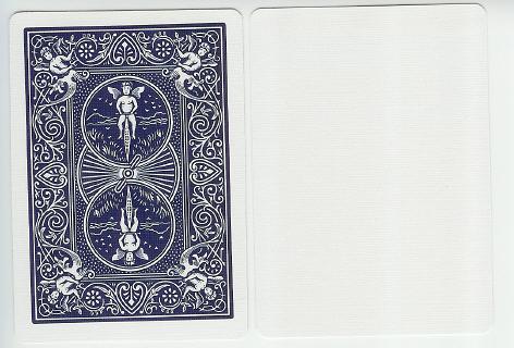 【USPCC 撲克】BICYCLE N4-9009 藍色背/空白牌