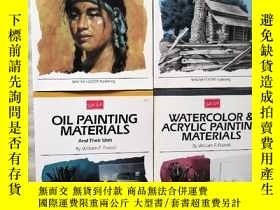 二手書博民逛書店ABOUT罕見THE ARTIST【OIL PAINTING MATERIALS+WATERCOLOR & ACR