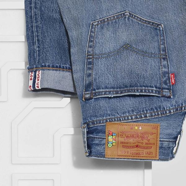 Levis X Super Mario限量聯名 男款 501 93復刻版排釦直筒牛仔褲 / 瑪莉歐赤耳 / 專屬皮牌