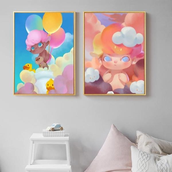 Dim泡特DIY數字油畫填充手繪填色油彩畫裝飾臥室北歐掛畫手工填色