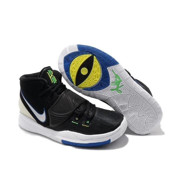 【六折特賣】Nike 籃球鞋 Kyrie 6 GS 黑 藍 女鞋 大童鞋 夜光設計 運動鞋 【ACS】 BQ5599-004