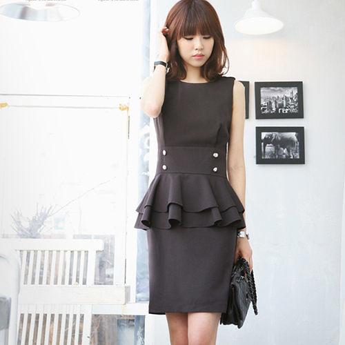 【現貨】韓國無袖氣質連身洋裝