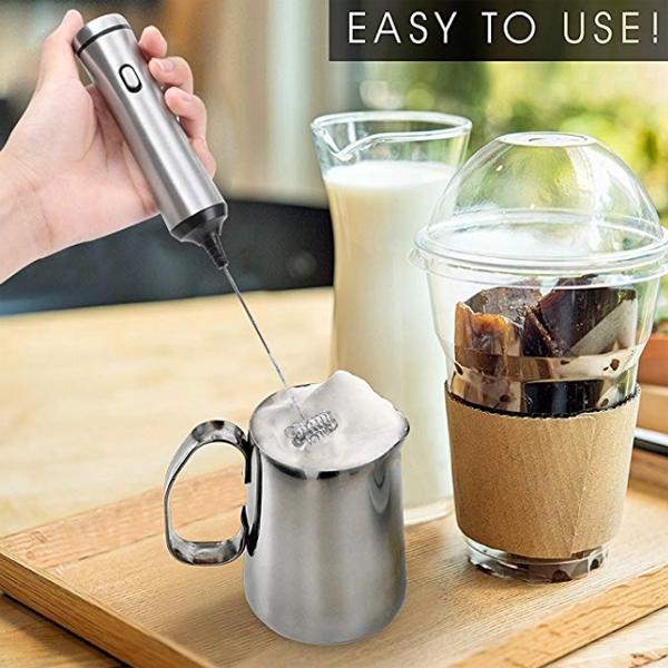 電動 奶泡器 充電式 打蛋器 拉花 花式咖啡 打泡器 牛奶 打蛋機 嬰兒副食品 攪拌機 BOXOPEN