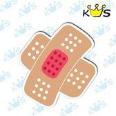 【防水貼紙】膚色打叉OK繃 # 壁貼 防水貼紙 汽機車貼紙 17.4cm x 15.8cm
