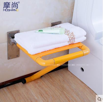 安全浴室折疊凳 老年人帶腿洗澡椅折疊椅淋浴壁椅 換鞋凳