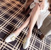 平底鞋單鞋女平底鞋豆豆鞋秋季新款韓版一腳蹬懶人鞋小皮鞋網紅女鞋 伊莎公主
