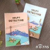 【Dimanche 2019偵探日誌HELP!! DETECTIVE】Norns A5手帳 週計畫 記事本月曆行事曆 可攤平書寫